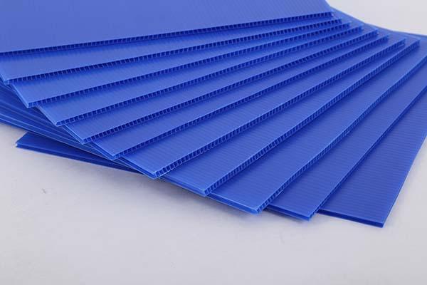 蓝色中空板
