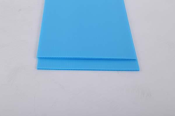 湖蓝色中空板